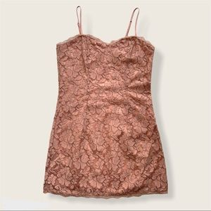 Forever 21 Floral Lace Bodycon Mini Dress